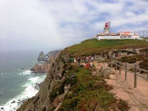 Cabo da Roca, the most West point of Euroasia continent